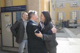 Mazzoleni con la sua ex-studentessa di Salerno Roberta Bracciale